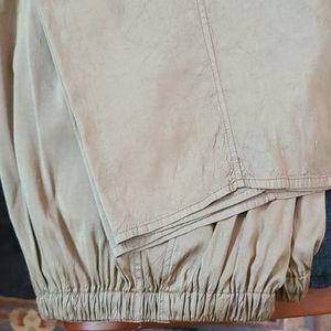 Women's Wide Leg Flax Silk Pants Size Large